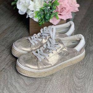 Forever 21 Metallic Platform Espadrilles Sneakers